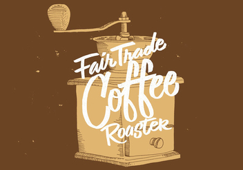 Fair Trade Coffee Grinder Design - Free vector #430997