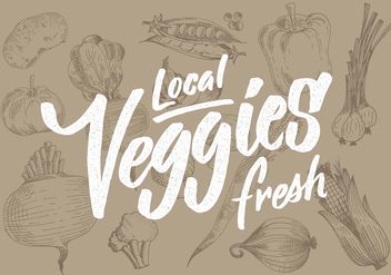 Local Fresh Veggies - бесплатный vector #431007