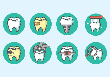 Dentista Icon Vector - бесплатный vector #431027