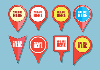 You Are Here Sign Icons - vector #431057 gratis