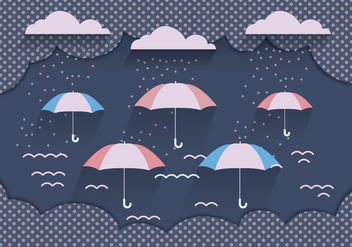Monsoon Background Dark Blue Vector - Free vector #431077