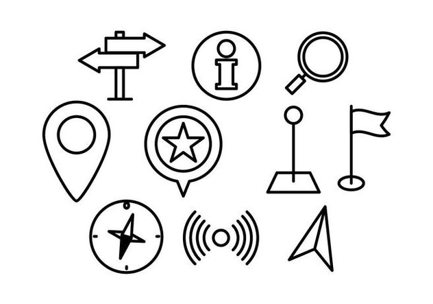 Free Map Pointer Linear Icon Vector - Kostenloses vector #431087
