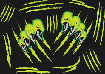 Monsters Claw Scratches - vector #431107 gratis