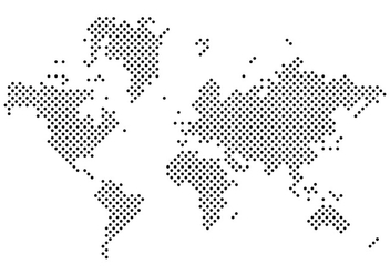 Black Dotted Mapa Mundi Vector - бесплатный vector #431117