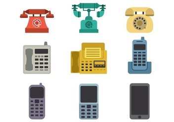 Free Evolution of The Telephone Icons Vector - Kostenloses vector #431177