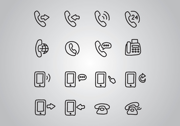 Set Of Doodled Telephone Icons - Free vector #431187