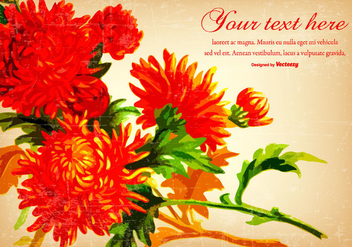 Beautiful Red Vintage Flower Background - Free vector #431197