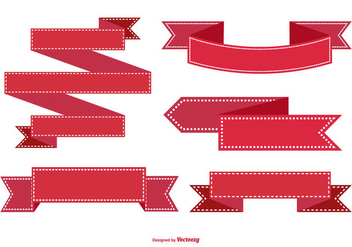Red Ribbon Collection - Free vector #431217
