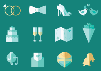 Wedding Icon Vector - Free vector #431237