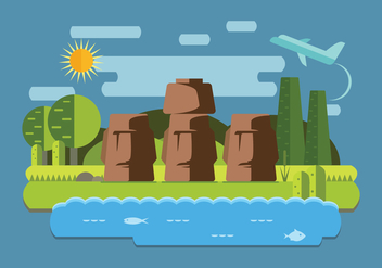 Easter Island Vector - Free vector #431257