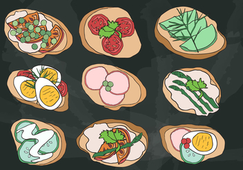Cenapes Buffet Vector - vector #431267 gratis