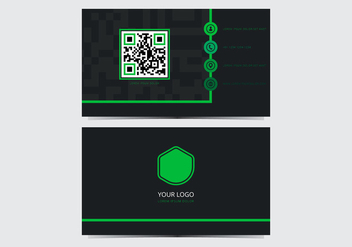 Green Stylish Business Card Template - vector #431287 gratis