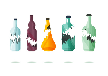 Broken Bottle Vector Item Collection - Free vector #431307