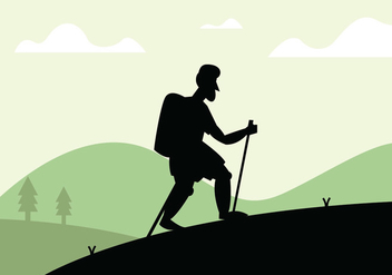 Nordic walking illustration - vector gratuit #431407