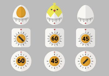 Cute Egg Timer Vector Item Pack - vector #431497 gratis