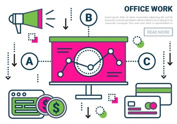 Free Linear Office Work Vector Elements - vector gratuit #431517