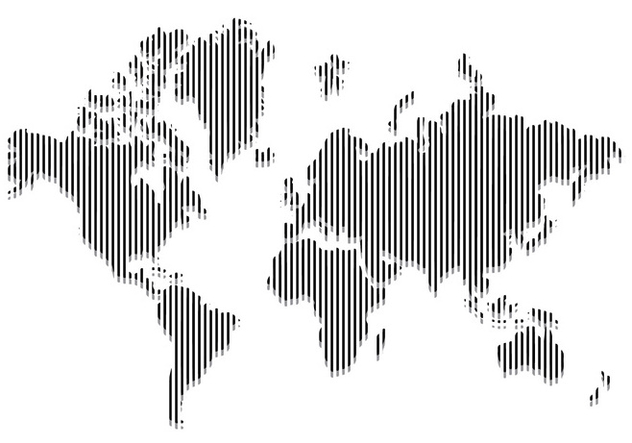Line World Map Vector - Free vector #431597