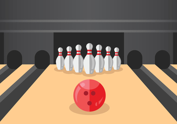 Bowling Vector Illustration - vector #431607 gratis