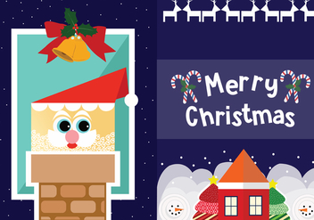 Two Christmas Tarjetas Vectors - vector gratuit #431647