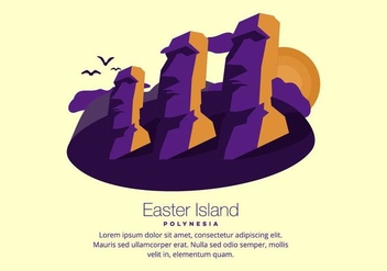 Easter Island Background - vector gratuit #431687