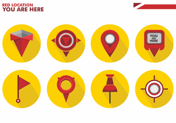 You Are Here Vector Icon - Free vector #431717