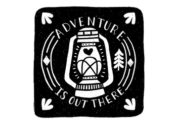 Adventure Lantern Badge Vector - Kostenloses vector #431737