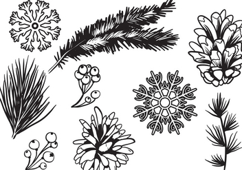 Free Winter Forest Vectors - vector #431797 gratis