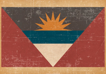 Antigua and Barbuda Flag on Old Grunge Background - бесплатный vector #431807