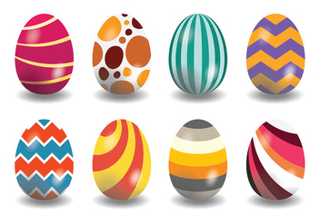 Decorative Easter Egg Icons Vector - Free vector #431817