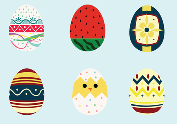 Easter Egg Vector Pack - Kostenloses vector #431827
