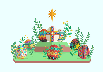 Easter Egg Vector Illustration - Free vector #431887