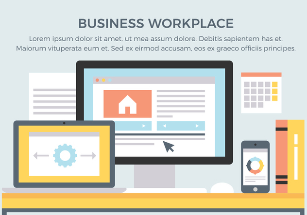 Free Business Workplace Vector Elements - vector #431917 gratis