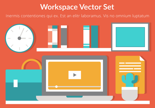 Free Workspace Vector Flat Design - vector gratuit #431937