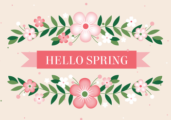 Free Hello Spring Vector Background - Free vector #431957