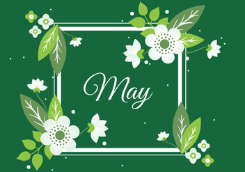 Free Spring Flower Wreath Background - Kostenloses vector #431967