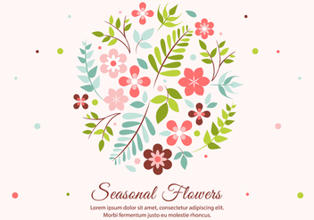 Free Spring Flower Vector Elements - Kostenloses vector #431987