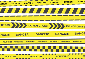 Yellow Danger Tape Vector Collections - Kostenloses vector #432027