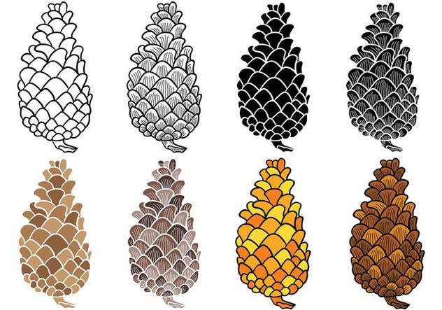 t233l233chargement du vecteur gratuit free pine cones vector