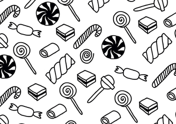 Black & White Candy Patterns - Free vector #432197