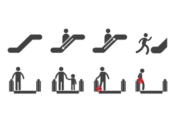 Free Escalator Icons - бесплатный vector #432217