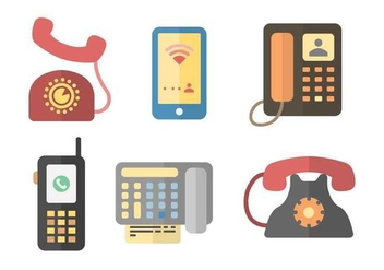 Free Iconic Communication Vectors - vector gratuit #432227