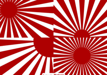 World War II Japan Sunburst Effect Background - бесплатный vector #432257