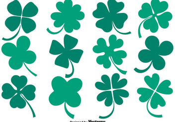 Vector Collection Of Flat Clover Icons - Free vector #432277