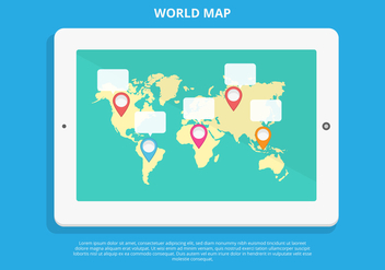 Free World Map Infographic Vector - vector gratuit #432337