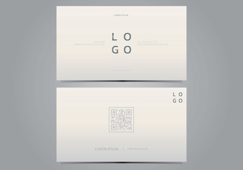 Stylish Business Card Template - vector gratuit #432357