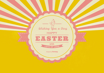 Retro Happy Easter Background - vector gratuit #432417