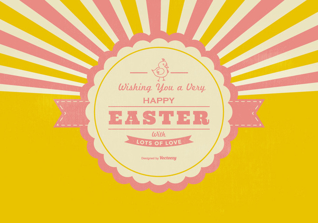 Retro Happy Easter Background - Free vector #432417