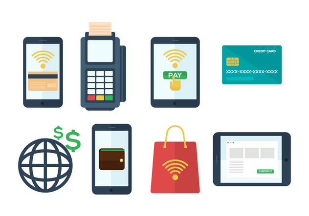 Free Mobile Payment Vector Icons - Free vector #432437