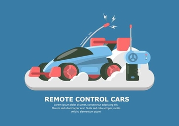 Futuristic Vector RC Car - vector gratuit #432467
