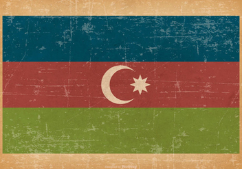 Flag of Azerbaijan on Grunge Background - Free vector #432487